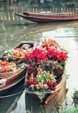 Boot und Blume Stockbild