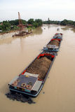 Boot und Chao Phraya stockfoto
