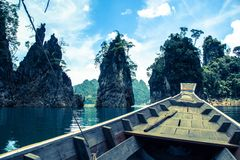 Boot und Guilin in Thailand Stockfoto