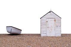 Boot und Hütte Stockfotografie