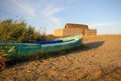 Boot und Haus des Fischers Stockfoto