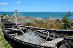 Boot und Meer Stockfotos