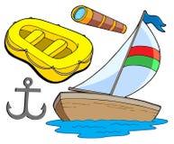 Boot und Segelnansammlung Lizenzfreie Stockfotografie