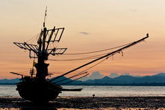 Boot und Strand Stockbild
