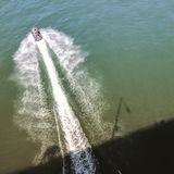 Boot van de brug Stock Fotografie
