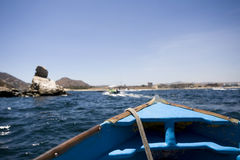 Boot van de kust van Mexico Stock Foto