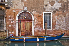 Boot in Venedig Stockbild