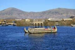 Boot von Schilfen Stockfotografie