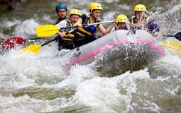 Boot whitewater Flößen Lizenzfreie Stockfotografie