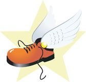 Boot and wings Stock Photo