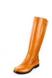 Boot. Women leather hand made Stock Image