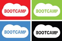 BOOTCAMP text, on cloud bubble sign. Royalty Free Stock Image