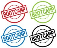 BOOTCAMP text, on round simple stamp sign. Royalty Free Stock Photos