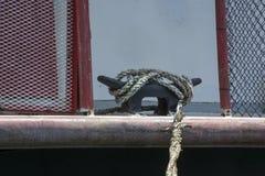 Bootdetail bij sternwheelfestival stock foto
