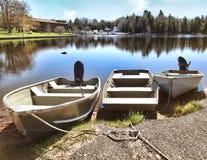 Boote angekoppelt Lizenzfreies Stockfoto