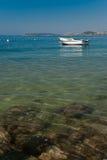 Boote auf adriatischem Meer Stockfoto