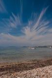 Boote auf adriatischem Meer Stockfotografie