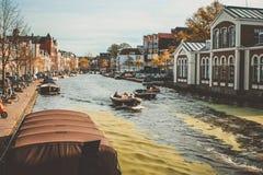 Boote auf chanel Stockbild
