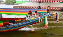Boote auf dem Fluss Lizenzfreies Stockfoto