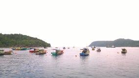 Boote auf dem Fluss Stockbilder