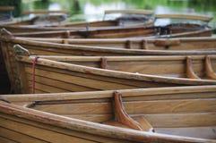 Boote auf dem Fluss Stour Großbritannien Stockbild