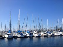Boote auf dem Long Beach Jachthafen Lizenzfreie Stockbilder