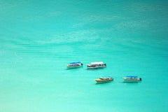 Boote auf dem Meer lizenzfreies stockbild