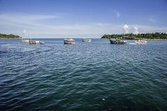 Boote auf dem Meer Lizenzfreies Stockfoto