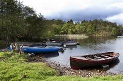 Boote auf dem See Stockbilder