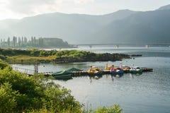 Boote auf dem See Lizenzfreies Stockbild
