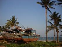 Boote auf dem Strand Lizenzfreie Stockfotografie