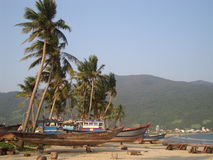 Boote auf dem Strand Lizenzfreies Stockfoto