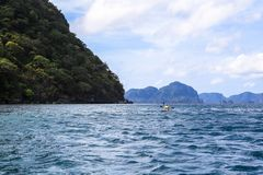 Boote auf dem Strand von EL Nido, Philippinen Lizenzfreies Stockfoto