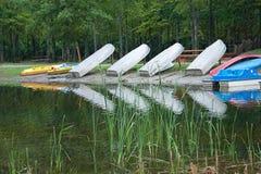 Boote auf dem Teich Stockbild