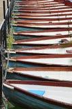 Boote auf dem Teich lizenzfreie stockfotografie