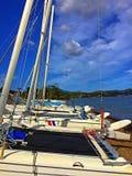 Boote auf dem Ufer Lizenzfreie Stockfotografie