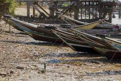 Boote auf dem Ufer Stockfotografie