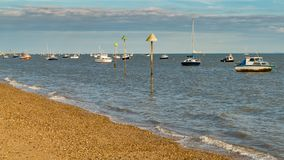 Boote auf dem Ufer der Themses Lizenzfreies Stockbild