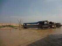 Boote auf der Reparatur Stockfotografie