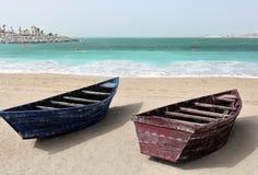Boote auf der Seeküste Stockbilder