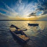 Boote auf der Wolga Lizenzfreie Stockfotografie