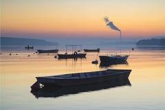 Boote auf Donau Stockbilder