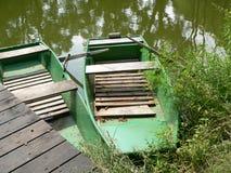 Boote auf einem Teich Lizenzfreie Stockfotografie