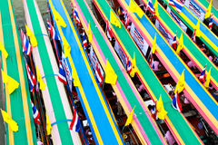 Boote auf Fluss in Bangkok lizenzfreies stockbild