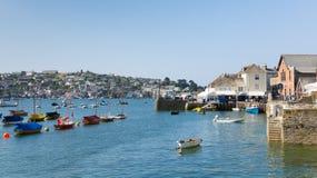 Boote auf Fowey-Fluss Cornwall England Großbritannien Stockfotos