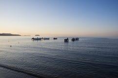 Boote auf Meer Lizenzfreies Stockbild