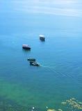 Boote auf Ohrid See Stockbilder