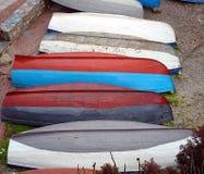 Boote auf Querneigung der Ohrid See Stockfotografie
