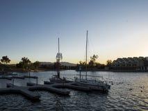 Boote auf See Lizenzfreies Stockbild