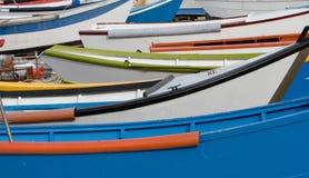 Boote auf Strand Stockfotos